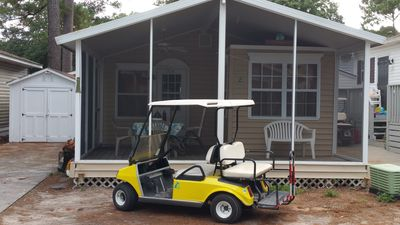 Screened-in Front Porch with FREE Golf Cart