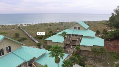 Building 1, condo #101... Corner unit.  Just steps to the beach and gulf.