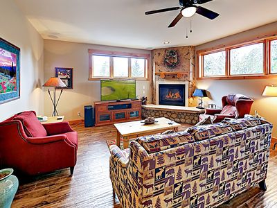 Photo for New Listing! Mountain-Chic Condo w/ Gym, Hot Tub & Game Room