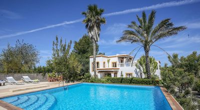 Photo for Beautiful typical Ibizan house with garden and pool in the north of the island