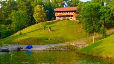 Photo for Featured on HGTV!! STUNNING LAKEFRONT HOME ON DOUGLAS LAKE SEVIERVILLE TN.