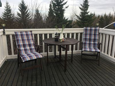 Outdoor furniture on the terrace