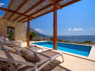 Photo for Villa Oslo - luxury place with sea views & heated pool, 300m from sandy beach