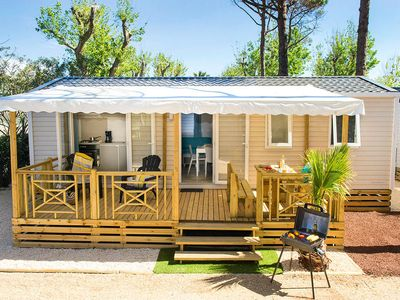 Photo for Camping La Falaise ** - Premium Mobile Home 4 rooms 6 people conditioning