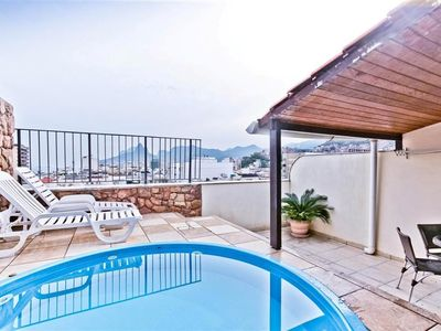 Photo for Nice duplex penthouse with pool and view to Ipanema!
