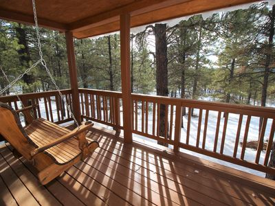 Photo for Close to Town, Very Secluded. Hike, Fish, New Hot Tub!