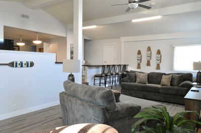Open Kitchen, Living and Dining Area