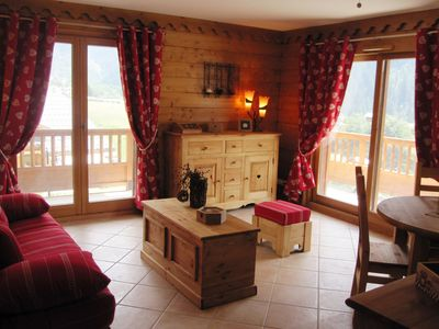 Photo for Ski Champagny in Vanoise, new apartment 6 pers, residence ,due south, sunny