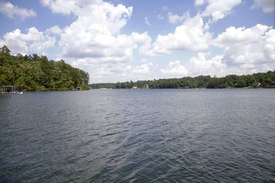 Easterly view of the lake from our dock.