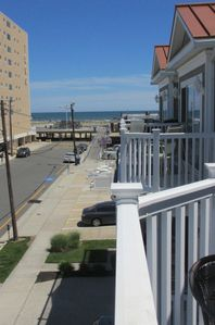 Ocean views from our front deck!  Boardwalk is just a few steps away!