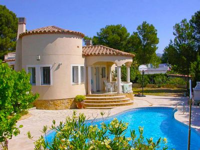 Photo for 3 bedroom Villa, sleeps 6 in Las Tres Cales with Pool, Air Con and WiFi