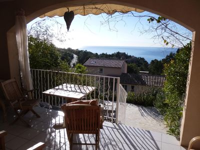 Photo for 2 bedroom apartment with sensational sea views facing south, close to the beach.