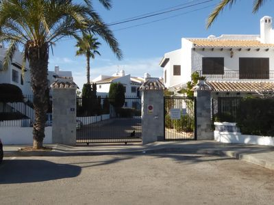 Photo for Belavista, lower apartment in a beautiful resort, located directly on the sea