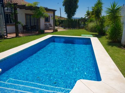 Photo for Charming, Secluded  Mijas Villa, Private Pool & Gardens  Peaceful Location, WIFI
