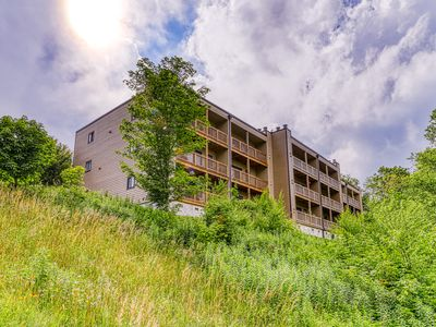 Photo for Sugar Mountain condo between 2 ski runs with covered balcony & fireplace