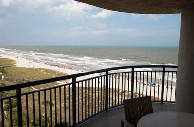 Photo for 5TH FLOOR CORNER UNIT with side views of Tiki bar and TRUE Ocean Front Views