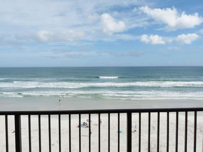 Photo for REAL Direct Oceanfront Top 5th Floor Unit w/ Amazing Balcony View - Dog Friendly