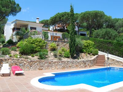 Photo for Well-kept villa near Blanes with olive and pine trees and private swimming pool