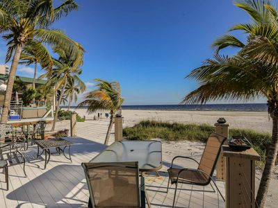 Photo for Direct Beachfront Cottage on the North End of Fort Myers Beach
