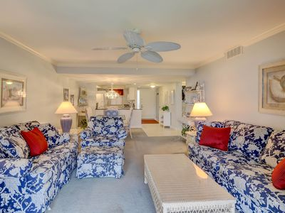 Photo for Oceanview condo w/ patio, shared pool, hot tub & more - beach nearby!