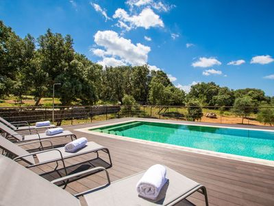 Photo for This 4-bedroom villa for up to 8 guests is located in Costitx and has a private swimming pool, air-c