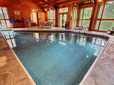Private 90+ acres! Indoor Heated Saltwater Pool.  Private Estate With Amenities