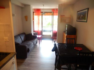 Photo for T2 6 pers 3 Stars Ter. 10m ² South view vercors, ski shuttle, village center 300m