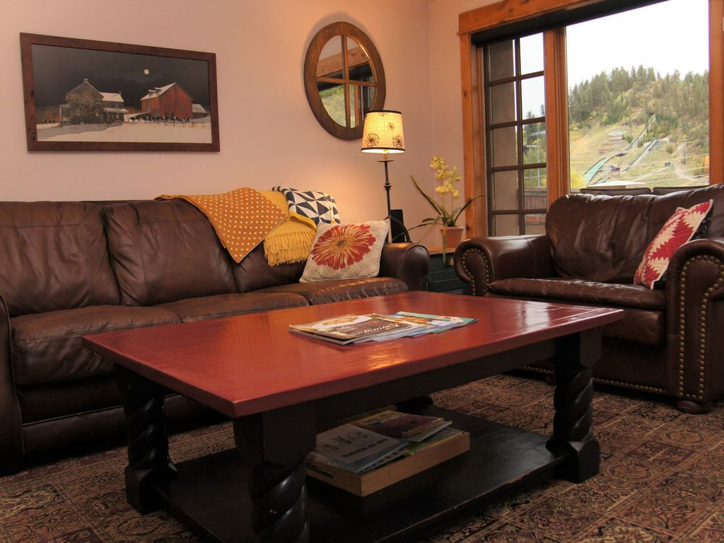 The Living Room And Master Bedroom Have Fantastic Views Of River Mountain