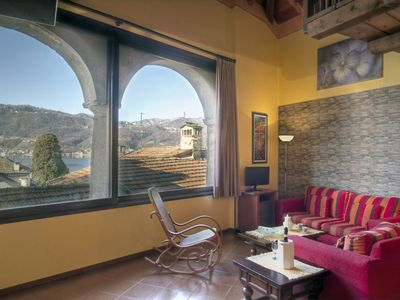 "Photo for ""PANORAMICO"" CHARM APARTMENT VISTA LAGO, IN THE HISTORIC CENTER"