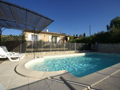 Photo for Nice holiday home with enclosed garden and private pool, close to the Luberon.