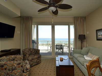 Photo for Beachfront Condo with Free Beach Service! Private Balcony with Stunning Views. Access to All Resort Amenities!