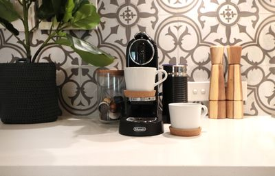 Nespresso machine - bring your preferred pods!  Or go cafe style downstairs!