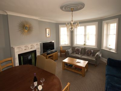 Photo for Silverdale Sunbeams, very spacious apartment walking distance to beach and town