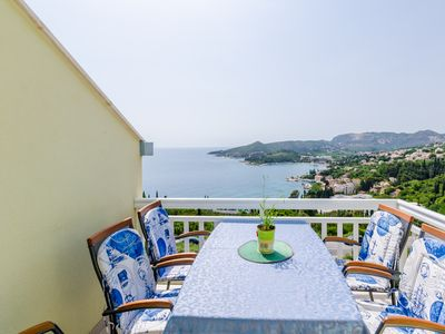 Photo for Villa Soleil - Apartment 3 with balcony and fantastic sea views