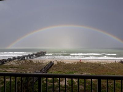 Come find your gold at the end of the rainbow.  View from our balcony.