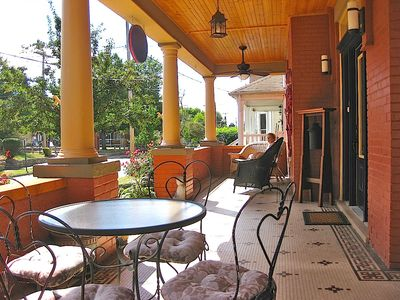 Expansive Southern front porch, feels like another room!