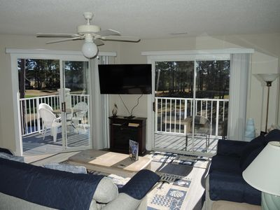 Photo for Great Golf Course View with 4 Queen Beds!  Sit on the Full Length Balcony overlooking the 8th Hole of the Magnolia Course!  (407)