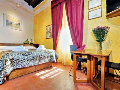 Photo for Vantaggio A  apartment in Piazza di Spagna North with WiFi, integrated air conditioning & lift.
