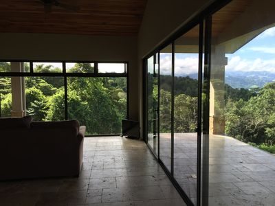 View from entryway - inside and outside living spaces