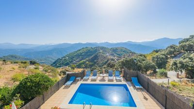 Photo for Marvellous villa with mountain views from the pool