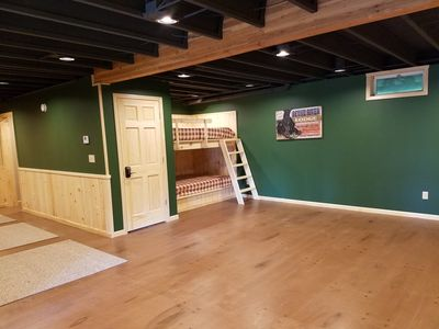 Built in bunks in finished basement