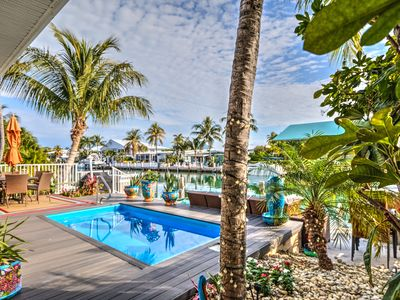 Photo for 3 Bedroom Key Colony Beach Home with POOL and Cabana Club! Dockage!