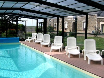 Photo for Gite with heated indoor pool not far from the Gulf of Morbihan