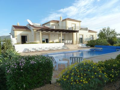 Photo for Luxury Villa Sleeps 8/10 Own Private Heated Pool,  AirCon,  WiFi, Boules, BBQ,