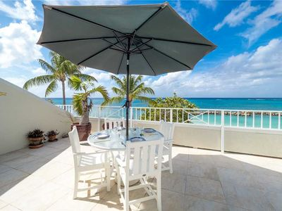 Photo for Ocean and beach lover's paradise ~ 3 BR Oceanfront unit at Sunset Cove right on 7 Mile Beach!