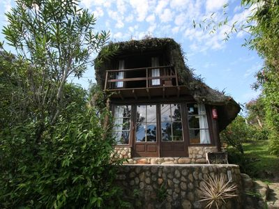Photo for Beautiful ecological hut with porch, whirlpool and large garden