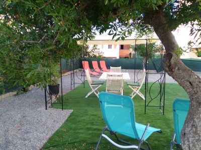 Photo for Ground floor with terrace and garden. Wi-fi and BBQ. Close to the beach and the center.