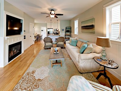 Photo for Steps to the Beach! 2BR Blue Shutter Bungalow w/ Deck, Pool & Private Hot Tub