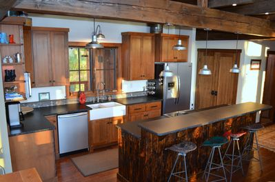 Make a gourmet meal or just strong Montana coffee in this well-equipped kitchen.