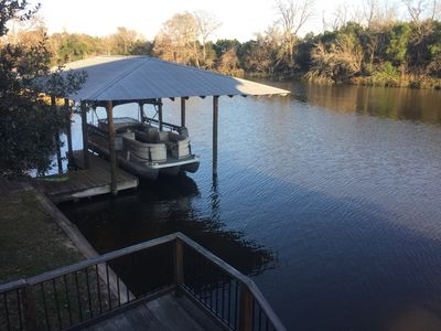 View of Cane River from top deck